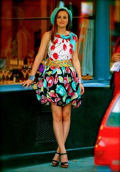 Blair Waldorf dress: Moschino shoes: Christian Louboutin bag: Chanel