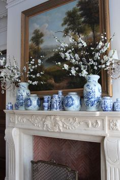 Blue and white .... from The Enchanted Home