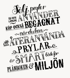 Blocket | Tovelisa Ord, Calligraphy, Let It Be, Lettering, Layout, Type, Design, Templates, Page Layout