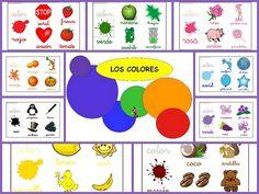 Aprende y repasa los colores Hoy os dejamos fichas para repasar los colores en educación infantil. Os dejamos 10 fichas con los colores: Amarillo, blanco,