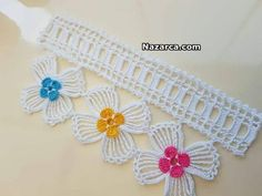 serit-dantelli-zarif-cicekli-havlu-kenari Crochet Belt, Crochet Sheep, Filet Crochet, Crochet Animals, Diy Crochet, Crochet Stitches, Crochet Necklace, Farm Crafts, Diy Crafts