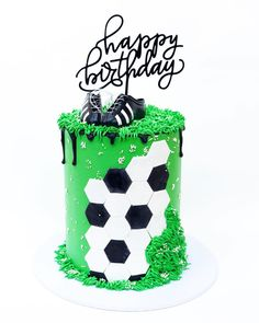 Design inspired by . 30th Birthday Cakes For Men, Soccer Birthday Cakes, Soccer Cakes, Eid Cake, 21st Cake, Cupcakes, Cupcake Cakes, Cake Design For Men, One Tier Cake
