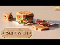 Полимерная глина - СЭНДВИЧ и тосты (кулинарная миниатюра) / Polymer clay sandwich - YouTube