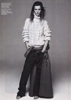 Kasia Strauss. Vogue Russia Sept 2012.  [ Knit. The CV ]