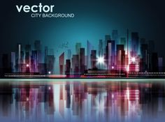Abstract City Vector Background
