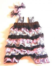 Lace romper for tots.  How to make!!!