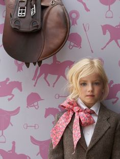 the wool jacket is lovely but really it's that printed lawn bow that sets it all off - especially with the toe-headed little girl