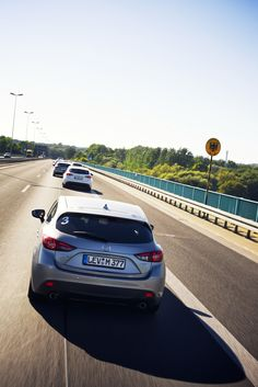 Stage7: Mazda Route3 crosses the German border on the way to its overnight stay in Berlin.