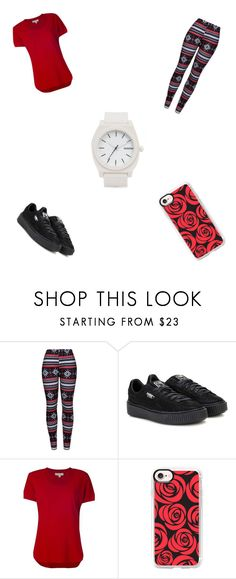"""Just a Simple Day!!!"" by dyhmonae on Polyvore featuring WithChic, Puma, MICHAEL Michael Kors, Casetify and Nixon"