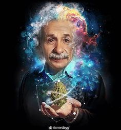There are only two ways to live your life. -Einstein ☝️ gear available at today 💯 Surealism Art, Albert Einstein Poster, Marijuana Art, Stoner Art, Weed Art, Psy Art, Visionary Art, Science Art, Live Your Life