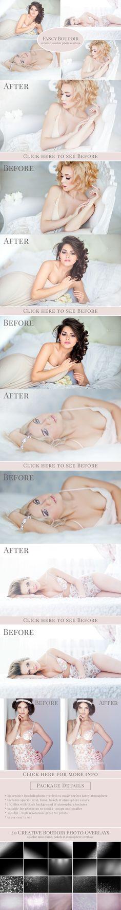 """Fancy Boudoir"" photo overlays. Photoshop Layer Styles. $15.00"
