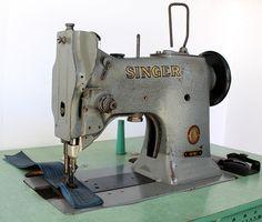 Singer 151W1 Walking Foot Lockstitch Industrial Sewing Machine w Table Motor | eBay