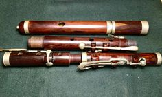 Vintage / Antique / Traditional Wooden Flute in need of restoration. 8 Keys #Unbranded