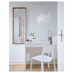 BRIMNES Dressing table, white 27 IKEA - BRIMNES, Dressing table, white, Built-in mirror with hidden storage space that helps you organize your jewelry and makeup. Drawer stops prevent the drawer from being pulled out too far. White Bedroom Furniture, Ikea Bedroom, Bedroom Ideas, Brimnes Dressing Table, Ikea Dressing Table, Dressing Room, Chaise Bar, Malm, Lineup