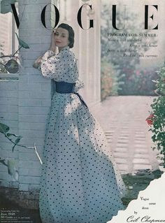 Ceil Chapman Dress on the cover of Vogue, June 1948