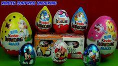 10 Surprise Eggs Mickey Minnie mouse Penguins of Madagascar 2 MAXI Kinde...