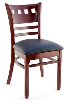 Premium Houston Series Wood Chair for restaurants. Commercial grade chair for use in bars and restaurants. Dinning Chairs Modern, Wooden Dining Room Chairs, Upholstered Dining Chairs, Chair And Ottoman, Table And Chairs, Blue Chairs, Wood Restaurant Chairs, Woods Restaurant, Wood Chair Design