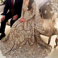 30 Stunning Pakistani Bridal Walima Dresses for Your Inspiration 30 Stunning Pakistani Bridal Walima Dresses for Your InspirationWalima is an extremely significant day of the wedding and requests consummat Asian Bridal Dresses, Bridal Outfits, Indian Dresses, Indian Outfits, Pakistani Wedding Outfits, Pakistani Wedding Dresses, Bridal Anarkali Suits, Walima Dress, Desi Bride