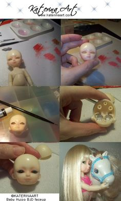 BJD Baby Hujoo Faceup Tutorial by Katerina-Art.deviantart.com on @deviantART