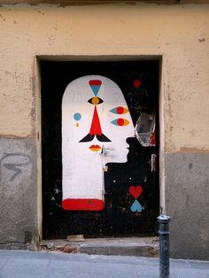 StreetArt, Madrid, Spain by Remed
