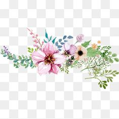 Hand painted watercolor flower decoration pattern