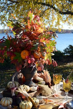 2013 fall table by the water. Home Is Where the Boat Is