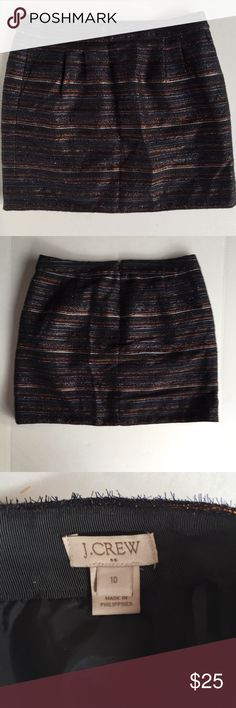 J. Crew Metallic Tweed Mini Skirt Style E3967 | Condition: pre-owned. Normal wear. No noted defects | NO TRADES J. Crew Factory Skirts Mini