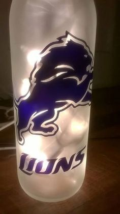 NFL Detroit Lions Lighted Wine Bottle. Can be by DownHomeGift