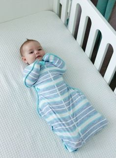Love to Dream Swaddle UP in Denim Stripe - Limited Edition