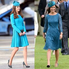 Pin for Later: 16 Times Pippa and Kate Middleton Dressed So Similarly, We Had to Do a Double Take When They Perfectly Matched Their Fascinator to Their Teal Dresses
