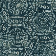 Kimono was inspired by a roll of vintage indigo-dyed Kimono cloth Katie discovered while poking about a dusty antique shop in Kyoto. Textile Patterns, Textile Prints, Textile Design, Print Patterns, Indigo, Fabric Art, Kimono Fabric, Fabric Shop, Japanese Textiles