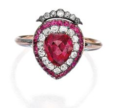 Ruby and Diamond Ring 1820s Sotheby's
