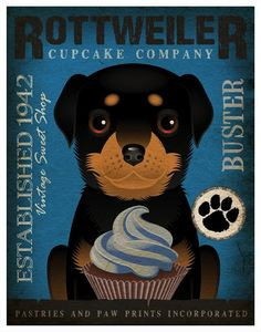 Rotties and cupcakes?  Perfection!