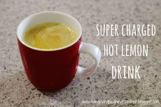 Super charged hot lemon drink to ward off colds this winter