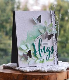 Sending Hugs Card by Amy Sheffer for Papertrey Ink (February 2016)