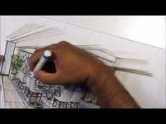 architectural sketching interior I - YouTube
