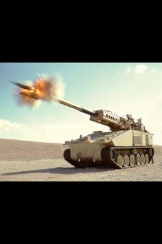 Tank Artillery Gun Fire