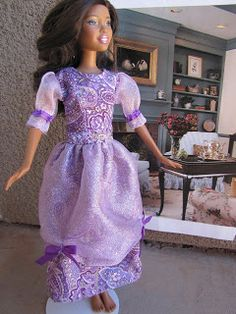 Barbie Clothes Patterns: 45 Free Designs & Tutorials - So Sew Easy Barbie Clothes Patterns, Doll Clothes Barbie, Dress Sewing Patterns, Barbie Dress, Clothing Patterns, Doll Patterns, Sewing Clothes, Evening Dress Patterns, Summer Dress Patterns