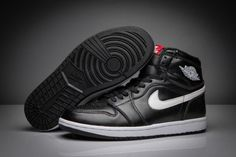 Authentic Air Jordan 1 Retro High OG Ying Yang Black White-Black Nike Air  Jordans b30082eeb7