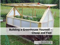 Building a Greenhouse Yourself - Cheap and Fast