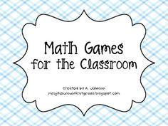 Math Game Cards for the Classroom, freee Teaching Math, Maths, Teaching Ideas, Second Grade Math, Grade 2, Daily 3, Classroom Freebies, Kindergarten Centers, Game Cards