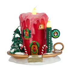 """Department 56: Products - """"Jack B. Nimble Candle Shop"""" - View Lighted Buildings"""
