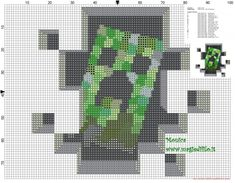 Creeper Minecraft cross stitch pattern (click to view)