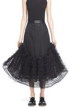 noir kei ninomiya Tulle Frills Skirt available at #Nordstrom