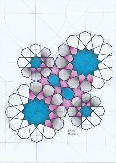 Bou118 #islamicdesign #islamicart #islamicpattern #arabiangeometry #symmetry #Escher #star #pencil #mathart #regolo54 #handmade