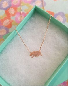 SALE-Rose Gold California State Bear Dainty Necklace, Women's Necklace, Danity Necklace, Minimalist Necklace, Bridesmaid Gift, BEST SELLER by 1215Clothing on Etsy https://www.etsy.com/listing/240031948/sale-rose-gold-california-state-bear