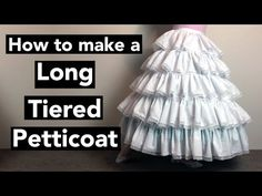 How to make a Long Tiered Petticoat (Tutorial) Petticoat For Wedding Dress, Long Petticoat, Classic Wedding Dress, Wedding Dresses, Diy Tulle Skirt, Renaissance Festival Costumes, Fashion Sewing, Ball Gowns, Sleeve Pattern