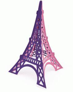 View Design: 3-d samantha walker eiffel tower Silhouette cut!  LOVE