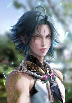 Sakimichan Art, Emo Art, Albedo, Animes Wallpapers, Beautiful Boys, Les Oeuvres, Anime Guys, Avatar, Anime Art