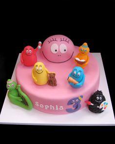 Barbapapa Barbamama Birthday cake taart. Meer Barbapapa spullen zijn te vinden op www.vanallesvan.nl Fancy Cakes, Cute Cakes, Fondant Cakes, Cupcake Cakes, Alien Cake, Cake Designs For Boy, Fantasy Cake, Novelty Cakes, Cake Tutorial